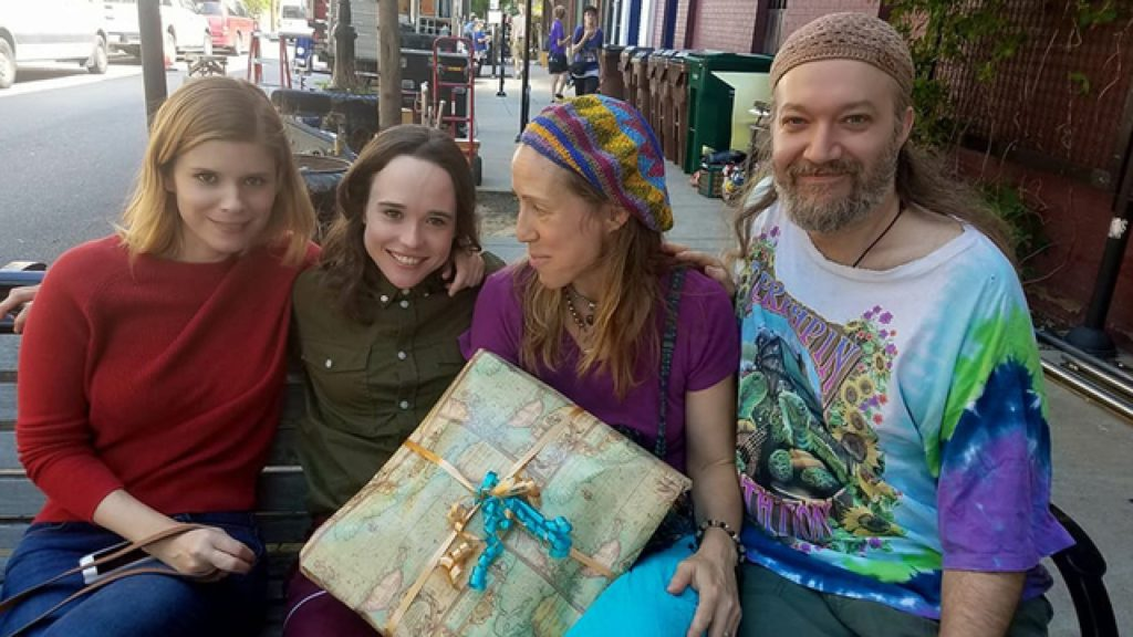 Kata Mara and Ellen Page with two unidentified people
