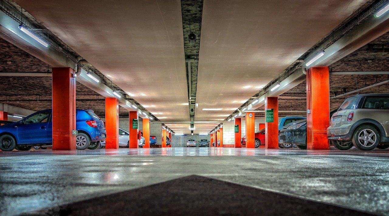 multi-story parking garage